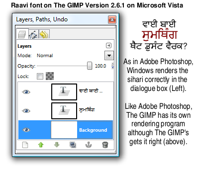 Resources :: Modhera, Gujarati-style Truetype Gurmukhi font